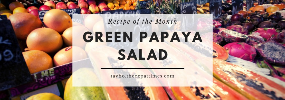 Recipe of the Month - Green Papaya Salad header image